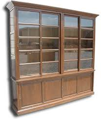 furniture 4 shelf solid wood bookcase with open front and back