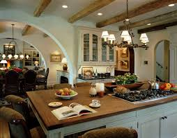 kitchen island with cooktop kitchen rustic with arch breakfast bar