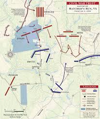 Run Map Battle Of Hatcher U0027s Run February 5 1865 Civil War Trust