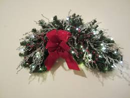 christmas wreath swag shipping included lighted rustic large