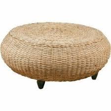 rattan round ottoman foter