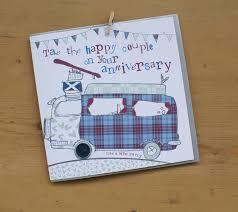 scottish wedding anniversary card by molly mae