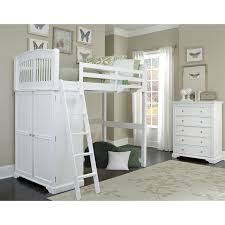 White Wood Loft Bed With Desk by Ne Kids Walnut Street Locker Loft Bed White Hayneedle