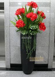 Floor Vase Flowers Large Floor Vase Set Entranceway Flowers Stair Artificial Flower