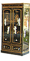 Black Armoire Chinese Armoire Wardrobe Hand Painted Lacquer With Inlaid Mother