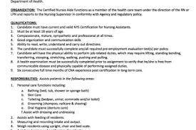 Cna Job Description For Resume Cna Job Description Resume Acting Resume Example Example Of Good