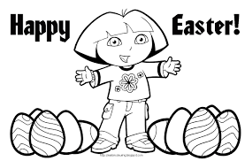 easter colouring dora the explorer easter coloring pages
