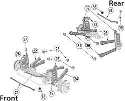 jeep jk suspension diagram jeep wrangler tj suspension parts 97 06 quadratec