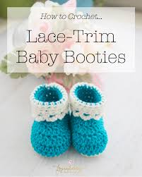 lace trim baby booties free crochet pattern loganberry handmade
