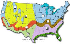 Gardening Zones By Zip Code - grass types by seasonal zones