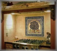 ceramic tile murals for kitchen backsplash tile mural of the tree of of jerusalem balian studio