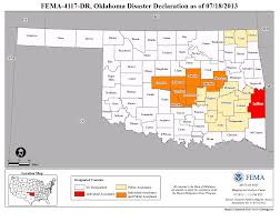 Map Of Oklahoma State by Oklahoma Severe Storms And Tornadoes Dr 4117 Fema Gov