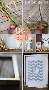 Home Decore Diy by Remodelaholic Simple Diy Gold Home Decor Accents