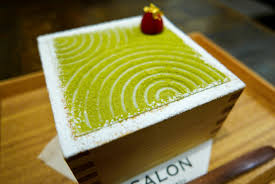 matcha parfait looks like a japanese zen garden hides a treasure