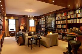 apartment superb decoration of luxury nyc penthouses library room