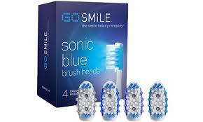 blue light whitening toothbrush go smile extra brush heads for the blue light whitening toothbrush