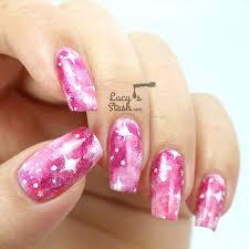 pink nail art pretty pink nails with balck polka dots bows and