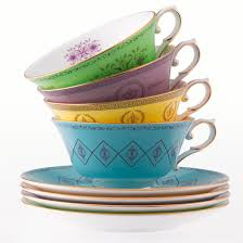 pair of tea cups and saucers bone china by smith