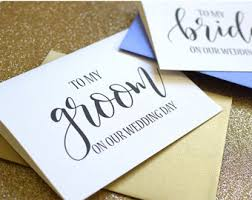 To My Groom On Our Wedding Day Card Groom Gift From Bride To Groom Card To My Groom On Our Wedding