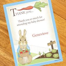 thank you baby shower rabbit baby shower personalized thank you notes