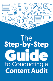 the step by step guide to conducting a content audit