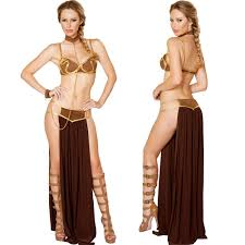 2017 new carnival star wars cosplay princess leia slave