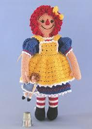 etsy crochet pattern amigurumi crochet pattern amigurumi raggedy doll girl with tiny rag doll
