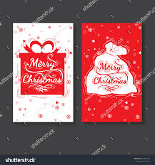 holiday greeting card design marry christmas stock vector