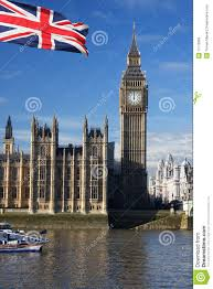 big ben with flag of england uk royalty free stock images image