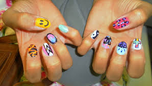 even though i u0027m skint fresh prince 90 u0027s print and wah inspired nails
