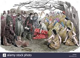 william penn 1644 1718 signing to peace treaty with native stock