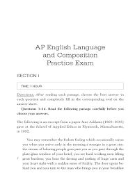 Sample Rhetorical Analysis Essay Ap English Ap Central English Language Essay Samples Cover Letter Formatt