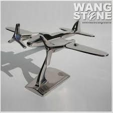 airplane home decor modern stainless steel metal airplane home decor sculpture buy