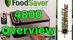 food saver 4800 series overview youtube