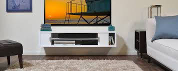home theater tv stand brown floating tv stand