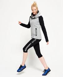 welcomed women tops get cheap superdry gym tech cowl hoodie