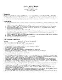 Recruitment Resume Sarena Wright Resume 2011