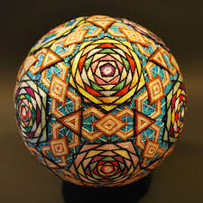 Beautiful Art Pictures by Temari Balls Mixing Mathematics With Beautiful Art