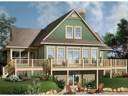 lake home plans narrow lot crestwood lake waterfront home plan 032d 0686 house plans and more