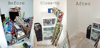 my gift wrap storage station organized momspotted