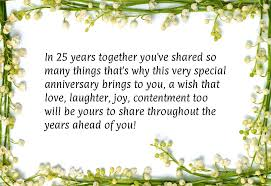 wishes 25 year with wishes 122 25th anniversary wishes quotes messages hd images
