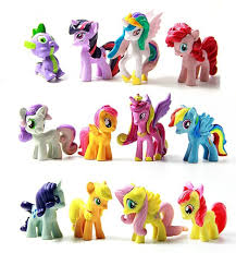 qoo10 my little pony cake topper figurines pouch apple jack