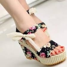 floral print floral lace up wedge sandals daisy dress for less