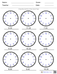 second grade time worksheets draw the on the clock worksheets maths ideas