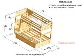 Twin Over Full Loft Bunk Bed Plans by Discovery World Furniture Twin Over Twin Honey Mission Staircase