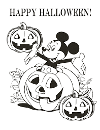 mickey halloween coloring u0026 coloring pages