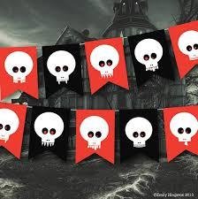 walking dead party supplies garland skulls banner party decor pirate