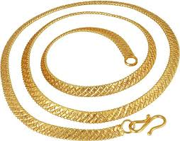 gold necklace styles images Styles creation artificial gold plated necklace thick flat chain jpeg
