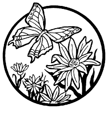 printable butterfly coloring pages for adults like it u0027s title isn