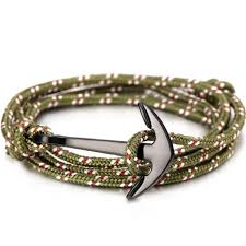 anchor bracelet rope images Olive burgundy black anchor gentlemen 39 s practice jpg